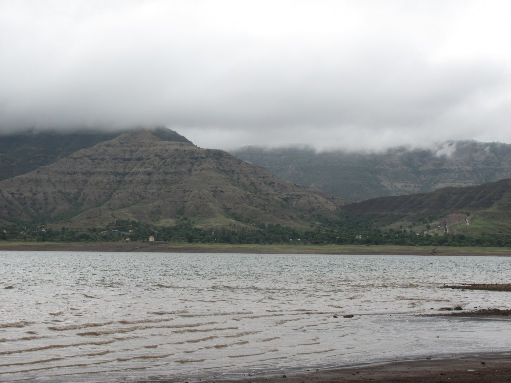 Mountains on the western shore