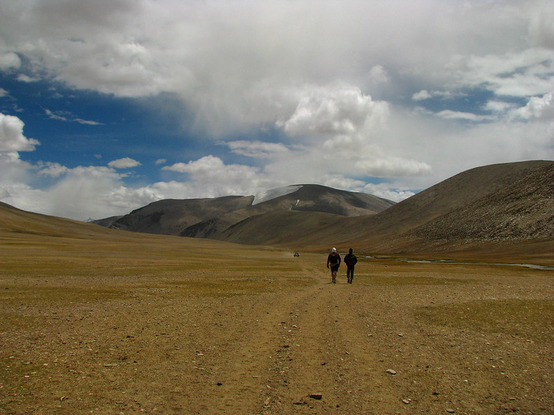 People trekking in Ladakh